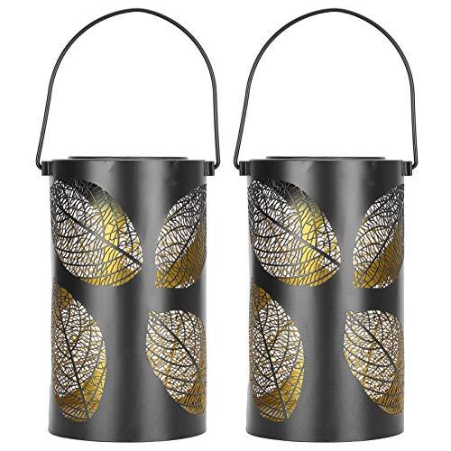 Emoshayoga Iluminación para Exteriores Lámpara Decorativa de 7.5x4.3in Luces para Exteriores Hierro para porches Árboles Pabellones con Panel Solar