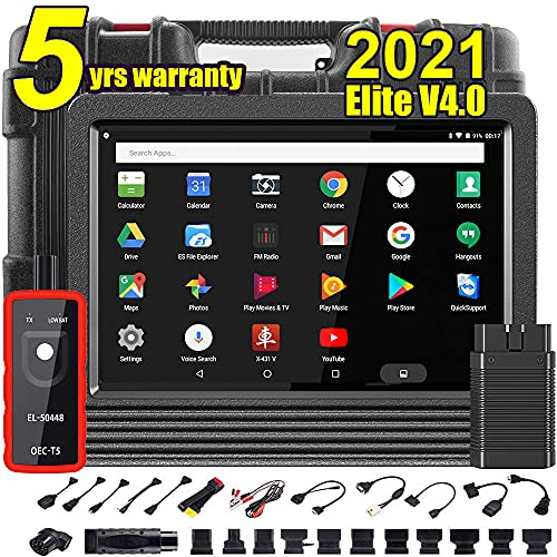 LAUNCH X431 V Pro 4.0 Elite All-in-One Scan Tool Bi-Directional All System OBD2 Scanner,31+ Relearn Reset Service,Key Program,Coding, Active Test,Guided Function,AutoAuth,TPMS Gift,2Yrs Free Update