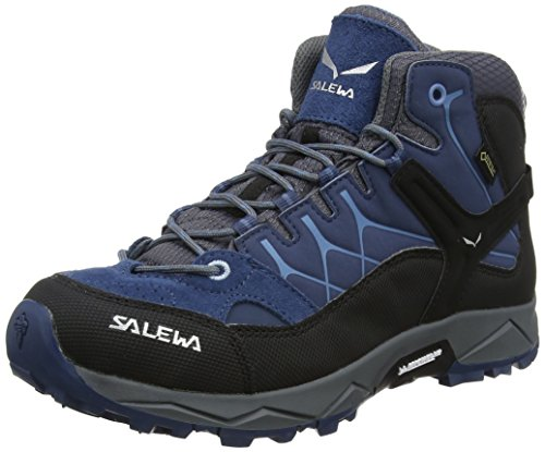 Salewa JR Alp Trainer Mid Gore-TEX Trekking- & Wanderstiefel, Blau (Dark Denim/Charcoal 0365), 33 EU