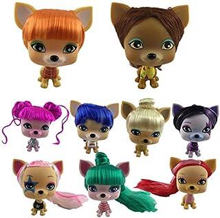 Dolls - 1Pc-6Pcs/set VIP-dog Pet Doll with Beautiful Hair Dress Up Doll Girl Gift (Random 1Pc)