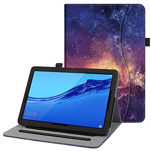 Fintie Hülle für Huawei MediaPad T5 10.1 - Kunstleder Multi-Winkel Betrachtung Folio Stand Schutzhülle mit Dokumentschlitze für Huawei MediaPad T5 10 10,1 Zoll 2018 Tablet,Die Galaxie