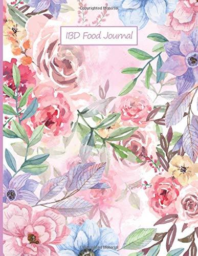 IBD Food Journal: Food Diary and Symptom Log for Ulcerative Colitis | Food Diary Symptom Tracker to Help Improve IBS | Crohn's | Celiac Disease and ... | Symptom Management (flower watercolor)