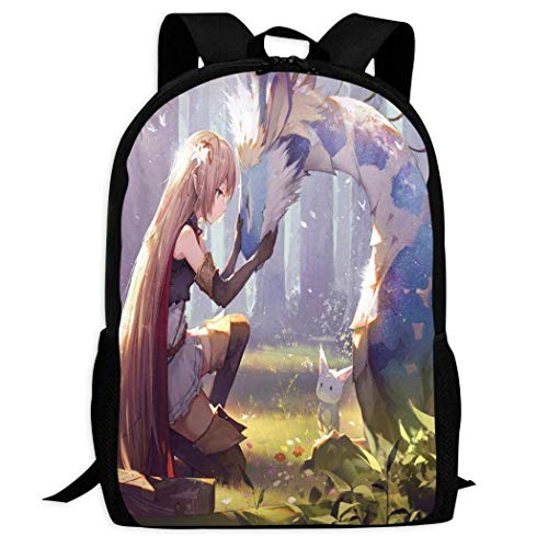 XCNGG Custom Pattern Backpack 3D Printing Forest e-l-f Children's School Backpack Teen Boys and Girls Cartoon Casual schoolbags