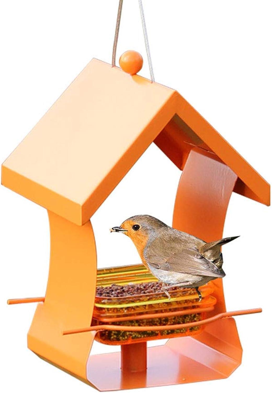 Bird Feeder, Feeder Wooden Hanging Outdoor Bird Feeding Station Convenient to Fill Waterproof Suitable for Garden Courtyard Outdoor Decoration