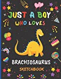 Just A Boy Who Loves Brachiosaurus Sketchbook: New Adorable Brachiosaurus Sketchbook Gifts For Boys .Brachiosaurus Blank Paper Sketch Pad For Creative ... and Doodling.Cute Christmas Gift Idea.v.2