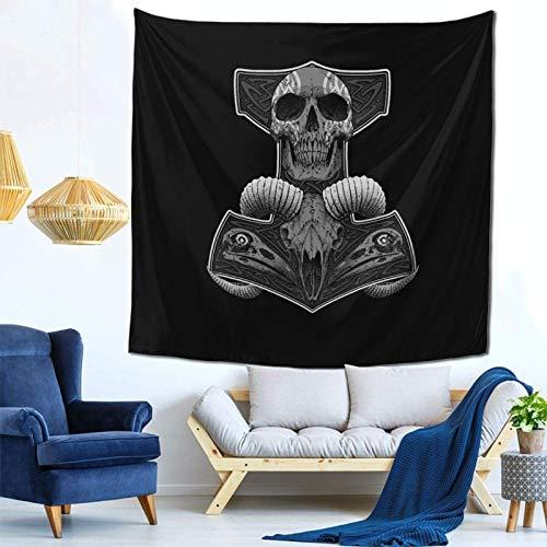 Lsjuee Thor's Hammer Decal Tapestry Wall Hanging Home Decor Fan Art per Camera da letto Soggiorno Dormitorio