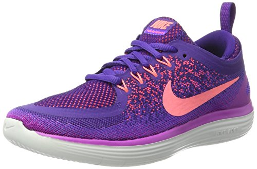 Nike Women's Free Rn Distance 2 Running, Zapatillas Deportivas para Interior Mujer, Morado (Hyper Grape/court Purple/lava Glow), 38 EU