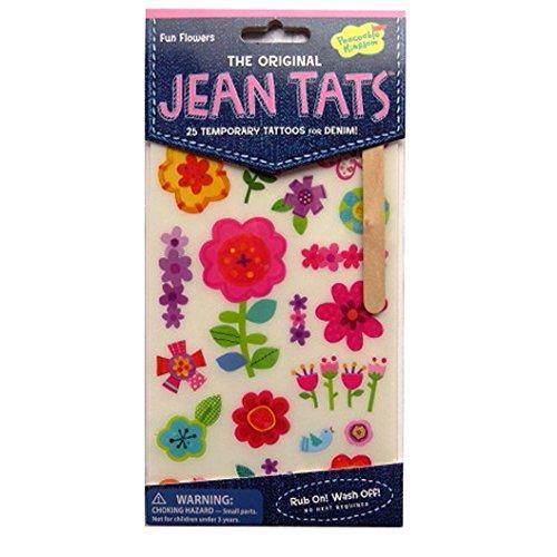Peaceable Kingdom L'original Jean / Denim / Tissu Tatouages - Fleurs d'amusement