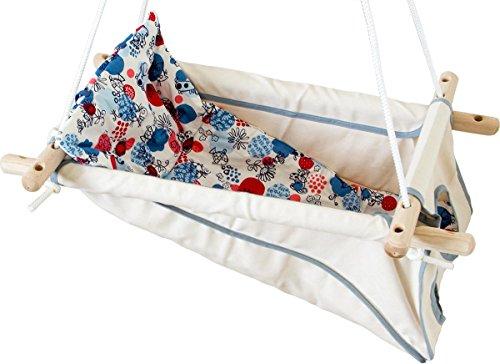 Hängebettchen aus Baumwolle von Petite planète Zébul'hamac Babybettchen Hängeschaukel Hängebett (natur/grau)