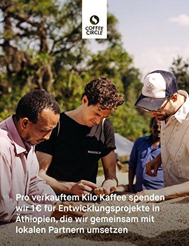 Coffee Circle | Premium Espresso Yirga Santos | 350g ganze Bohne | Vollmundiger Espresso mit Schokoladenaromen | Arabica und Robusta | fair & direkt gehandelt | frisch & schonend geröstet - 5