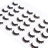 Wleec Beauty Dramatic False Lashes Pack Handmade Full Thick Eyelashes #36 (15 Pairs/3 Pack)