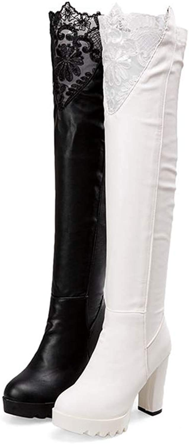Women Over The Knee Boots Comfortable Short Plush Women Boots PU Leather Fashion Boots
