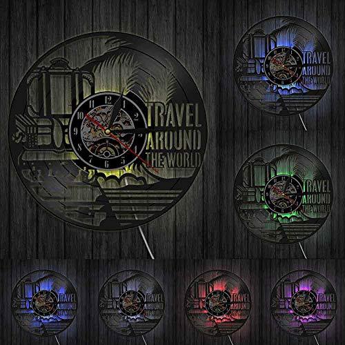 Reloj de pared para viajes alrededor del mundo Vacaciones turismo reloj de...