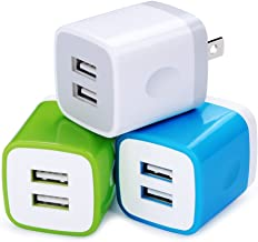 USB Wall Charger, Charger Plug, Charging Block Cube, Charger Block Box, 5V/2.1A Universal Power Adapter Brick Base Compatible for Phone X/8/7/6 Plus, iPad, Samsung Galaxy S9/S8/Note 9, LG, ZTE, HTC