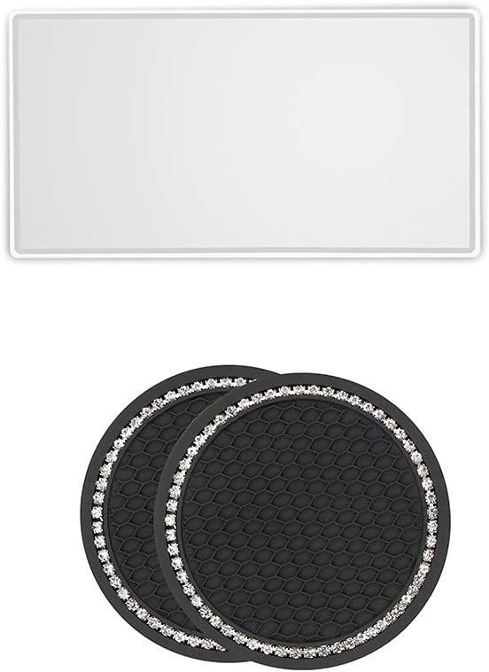 ihreesy Car Makeup Mirror with Stainless Bargain sale Universal Coaster Financial sales sale S
