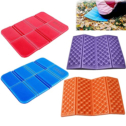 Insulated Folding Foam Sit Mat 4Pcs Waterproof Moisture Proof Pad Portable Seat Cushion Mat Thermal Seat Pad for Outdoor Camping Park Picnic Hiking Playground 2 Styles