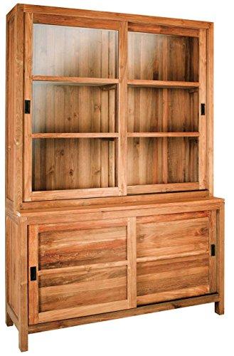 Inwood Vaisselier en Teck Majestic 2 Portes vitrées coulissantes