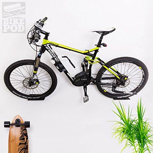 WANDKINGS BIKEPOD Wandhalter - Schwarz - für 1 Fahrrad, Rennrad, Mountainbike & mehr - Wandhalterung
