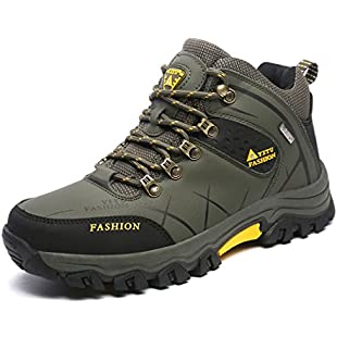 Customer reviews ONENICE Men's Hiking Boots High Top Trekking Shoes Non Slip Outdoor Warm Waterproof Walking Climbing Sneakers (G-18 Green, 8 UK(label 43 foot length 26.5cm))