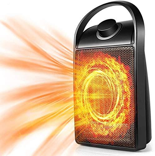 Chauffage soufflant électrique 2020 - Mini chauffage dappoint portable en céramique - 1500 W/750 W - Avec protection contre la surchauffe