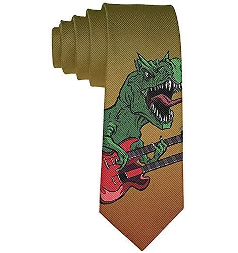 Corbata Corbatas divertidas Dinosaurios coloridos Guitarra Guitarra eléctrica Moda Novedad amplia Corbatas...