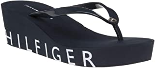 Tommy Hilfiger Kadın Hilfiger Wedge Beach Sandal Moda Ayakkabı FW0FW04057