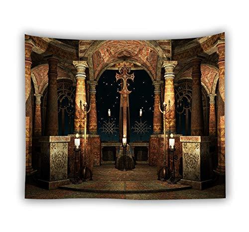 WERT Decoración para el hogar Manta Arte Colgante de Pared Tapiz Cubierta de Pared Mantel Hoja Grande Playa Tapiz Estera de Yoga A16 150x130cm