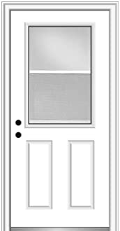 National Door Company Z029284R Steel 36x80 with 12 Sidelites Internal Grilles 1//2 Lite 2-Panel Exterior Prehung Door Right Hand In-swing