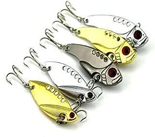 OriGlam 【Happy Shopping Day】 5Pcs Metal VIB Hard Fishing Lure Bass Crankbait Fishing Spinner Blade for Bass Fishing