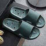 WZLJW - Infradito ergonomiche, morbide pantofole per la casa, antiscivolo e resistente all'usura, deodoranti, 44-45_B-Army Green,Drain Quick Bathroom Mule ggsm