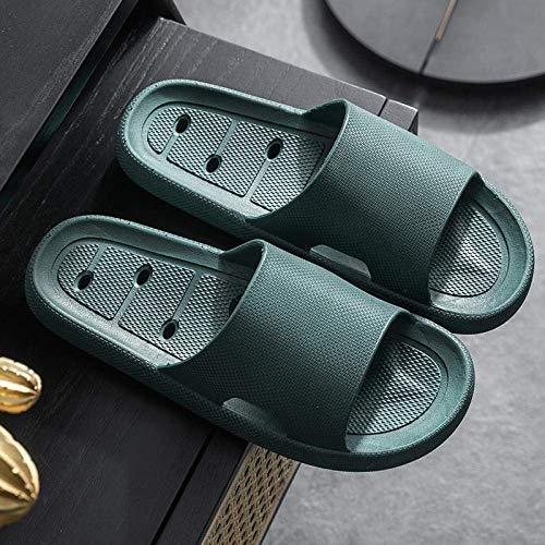 LIUCHANG liuchang20 Damen-Sandalen mit offenem Zehenbereich, weiche Hausschuhe rutschfest und verschleißfest, Deodorant-Slippers-38-39_B-Armeegrün, auf Pantoletten, Duschsandalen