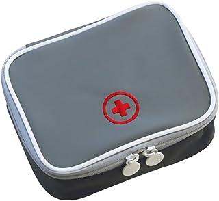 shengyuze Mini Outdoor First Aid Kit Bag Travel Portable Medicine Organizer Emergency Kit for Women Men Outdoor - Grey