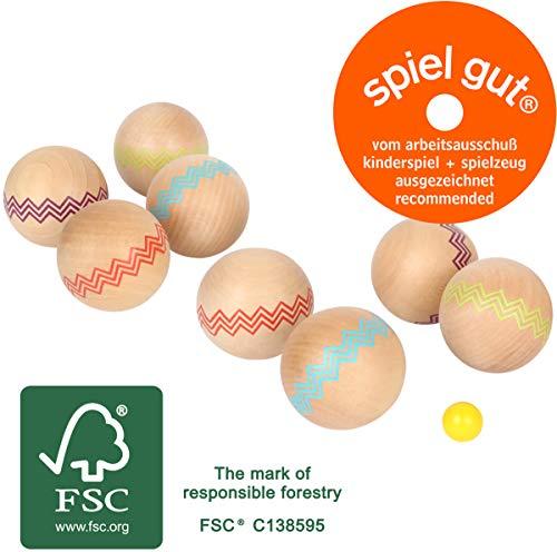 Small Foot 12029 Boule Active z drewna z certyfikatem FSC® 100% certyfikowanego drewna, do gry rodzinnej na świeżym powietrzu, od 3 lat