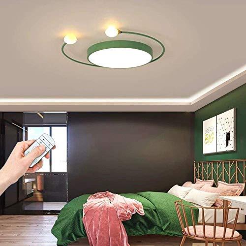 Runde LED Deckenleuchte Dimmbar Moderne Schlafzimmerlampe Deckenlampe Küchenlampe mit Fernbedienung 34W Innenbeleuchtung für Schlafzimmer Wohnzimmer Balkon