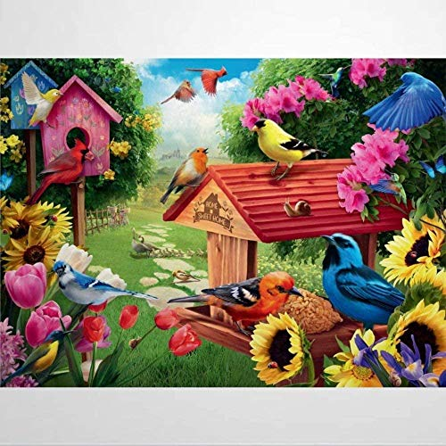 Jigsaw Puzzles for Adults 1000 Piece - Garden Birdhouse - Kids Puzzles Toys Educational Puzzles Jigsaw