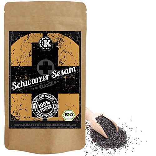 Bio Sesamsamen / Schwarzer Sesam BIO - 500g - Rohkost - Vergleichssieger 06.2020