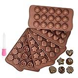 Cozywind 6 Piezas Moldes de Chocolate,6 Formas Diferentes Moldes de Bombones para...