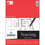 Canson 702-321 Pro-Art 9-Inch by 12-Inch Tracing Paper Pad, 50-Sheet