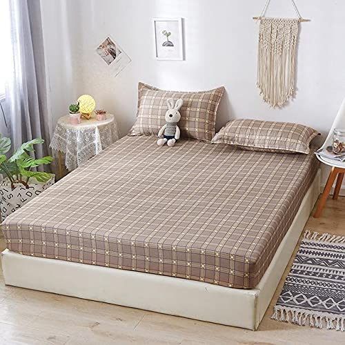 Duvet Checkered Fitted Sheet Some reservation Double Size King Queen At the price of surprise Fit Bedsheet