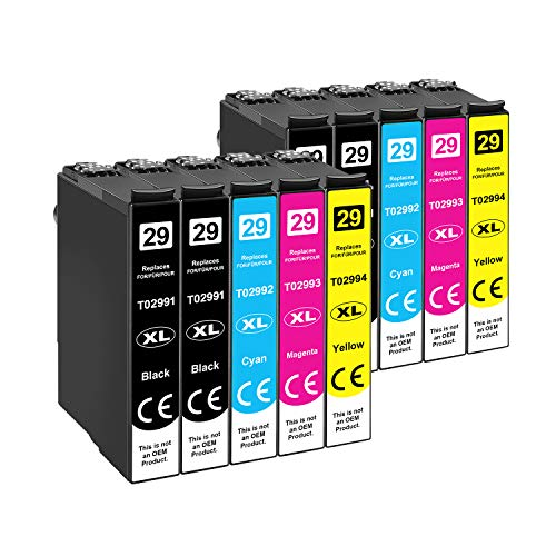 Tinnee 29XL Multipack Cartouches d'encre, (non-OEM) Remplacer pour Expression 29 29XL, compatible con Expression Home XP-255 XP-235 XP-435 XP-332 XP-345 XP-335 XP-245 XP-342 XP-247 XP-432 XP-455