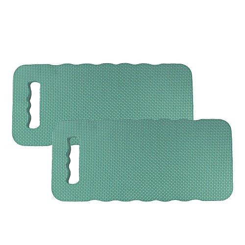 com-four® 2X Kniekissen für den Garten - Kniematte für die Gartenarbeit - Kniepolster - Knieschutzmatte wasserbeständig, wärmedämmend (2 Stück - Kniekissen)