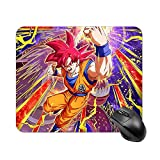 NiYoung Super Dragon Ball Heroes Goku Mouse Mat Large Water-Resistant Mouse Mat Gaming with Anti-Slip Rubber Backing Stitched Anti-Fray Edges, Laptop Home Mouse Pad, 15.7X29.5 Inches