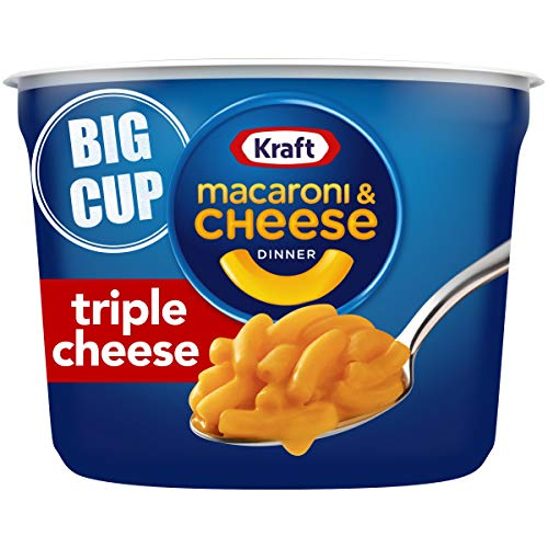 Kraft Easy Mac Triple Cheese Flavor Macaroni and Cheese Big Cup (8 Microwaveable Cups), 8 oz (Pack of 8)