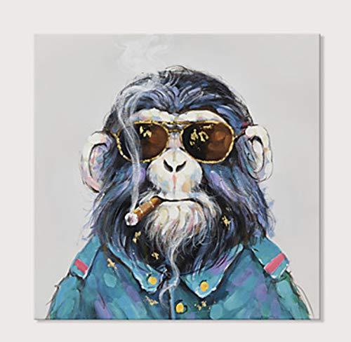 Animales Arte De Pared De Lona Gorila Con Gafas De Sol El Tabaquismo El Hotel...