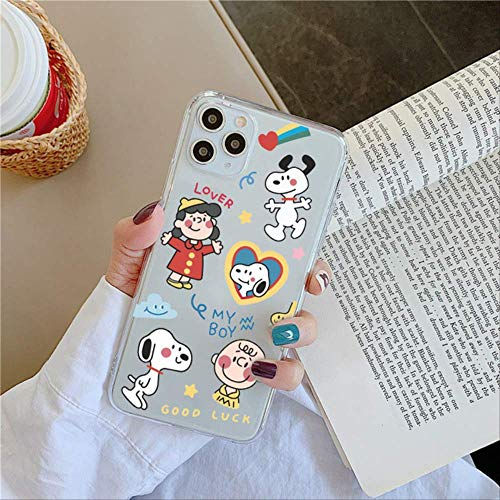 SSICA Funny Cute Dog Phone Case For iphone se 2020 11 Pro Max 7 8 plus X XR XS Max Back Cover Fashion Fluorescent Cartoon Soft Cases For iphoneXS CW07-1