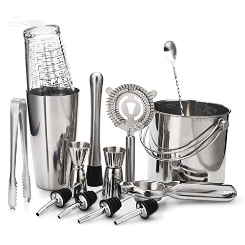 JJZXD Cocktail Shaker Bar Set Stainless Steel Lounge Cup Shaker Cocktail Shaker SAME TOOLS THE BAR PROS USE (Size : Style 4)