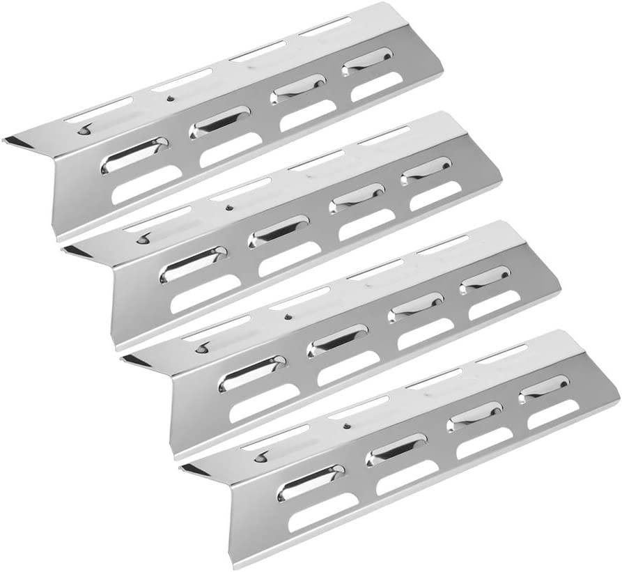 Grill Bombing new work Heat Plates 4pcs store Stainless Plate Barbe Burners Steel