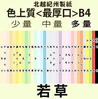 北越紀州色上質B4Y<最厚口>[若草](800枚)