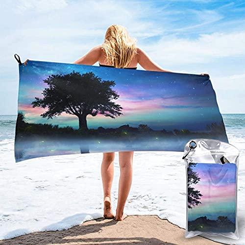 Toalla de playa de Tree Under The Stars Ultra Soft Sand Microfibra portátil absorbente de agua, multiusos
