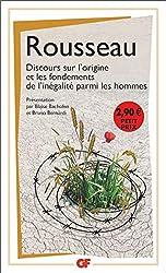 Discours sur l'origine et les fondements de l'inégalité parmi les hommes de Jean-Jacques Rousseau